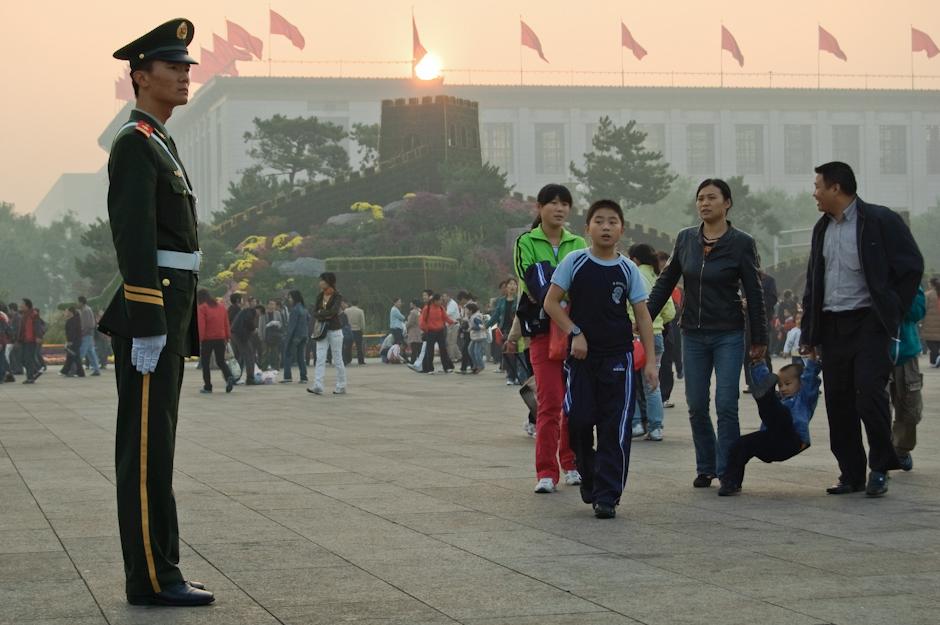 Pekiński Plac Tiananmen 22 lata po krwawym stłumieniu zamieszek.