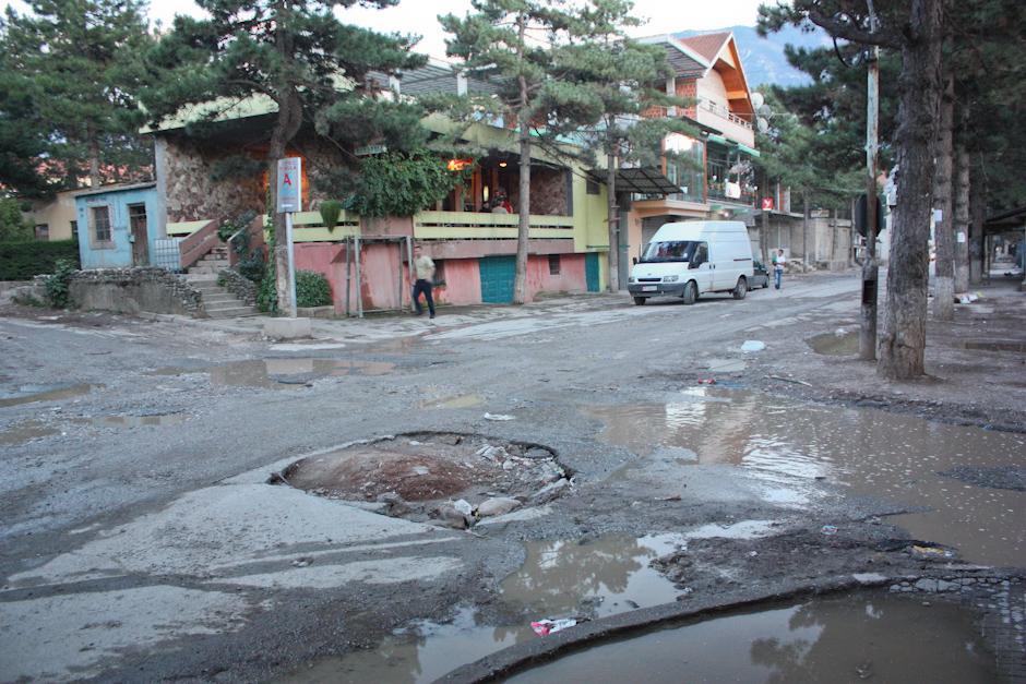 Albańskie miasto Kukes