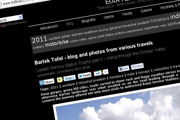 Blog Bartka Tofela