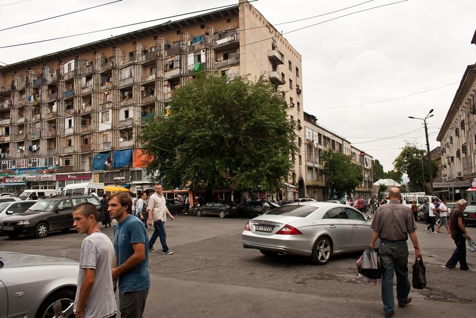 Mercedesy w stolicy Gruzji