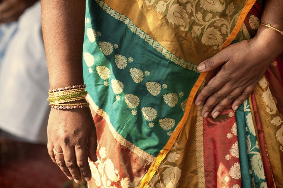 10. INDIE, Achanta. Kobiety też prezentują się rewelacyjnie. Większość z nich nosi ekskluzywne, jedwabne sari zakupione w słynnych sklepach miasta Kanchipuram. (Fot. Kasia Adamczyk-Tomiak)