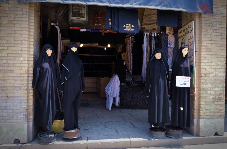 Irański sklep z ubraniami dla muzułmanek