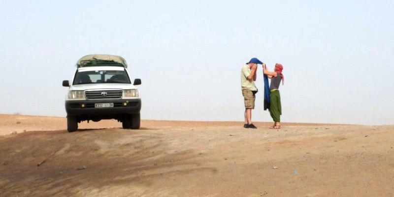 Pustynia w Maroku