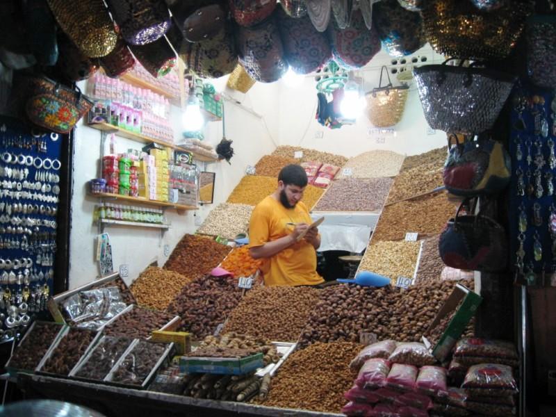 Stragan w Marrakeszu