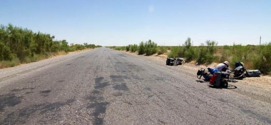 Rowerowa podróż przez Turkmenistan