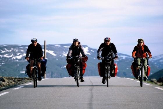 Podróże rowerowe przez Norwegię.