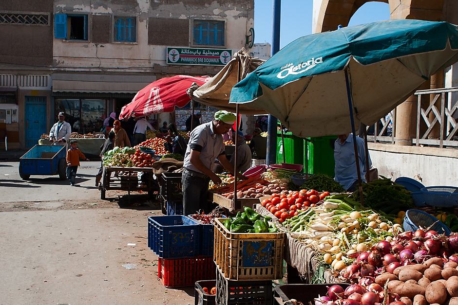 Zdjęcia z Afryki. Targ owocowy w Maroku