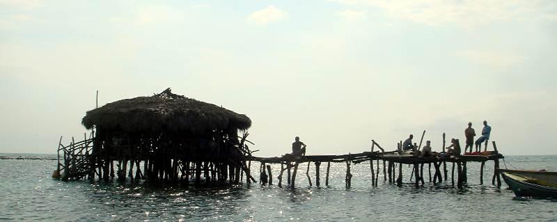 Jamajka. Bar na Morzu Karaibskim