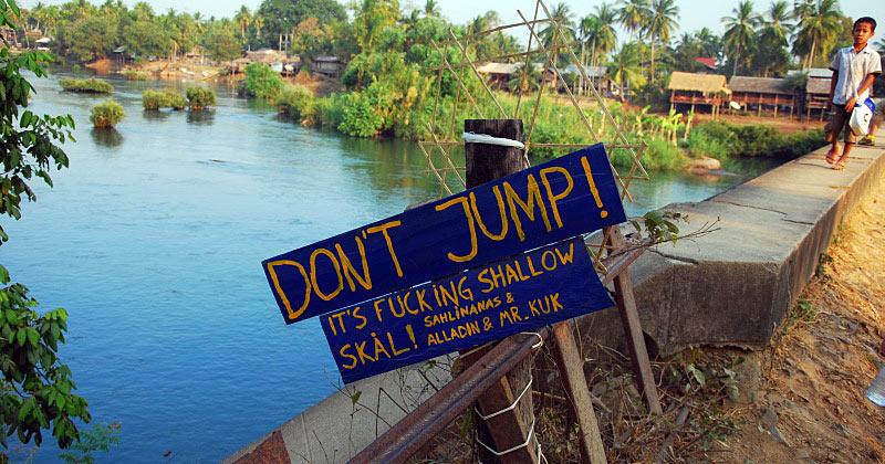 Most na rzece Don Dat w Laosie
