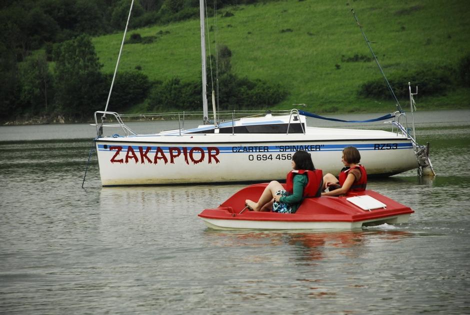 Jezioro Solińskie. łodka Zakapior