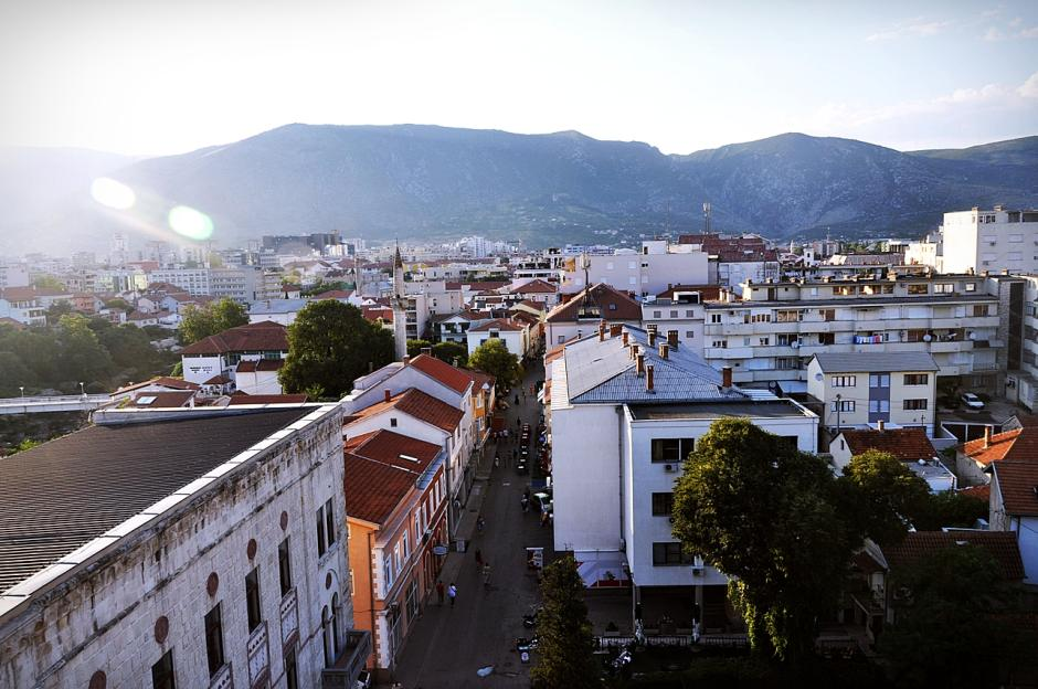 Widok na Mostar