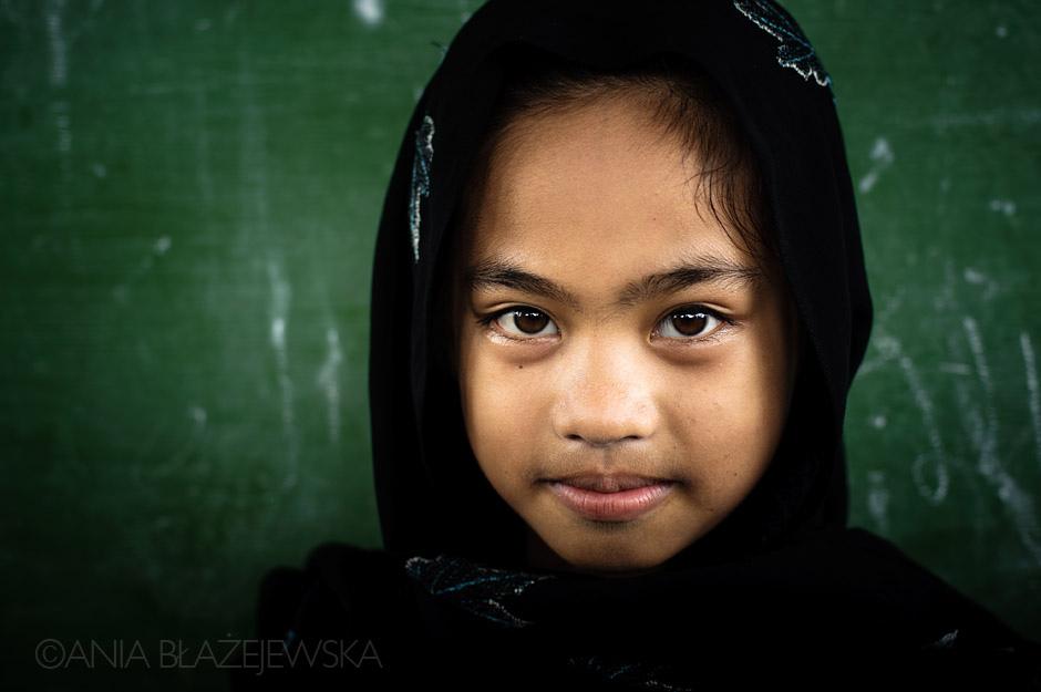 Portret muzułmańskiej dziewczyny z Filipin