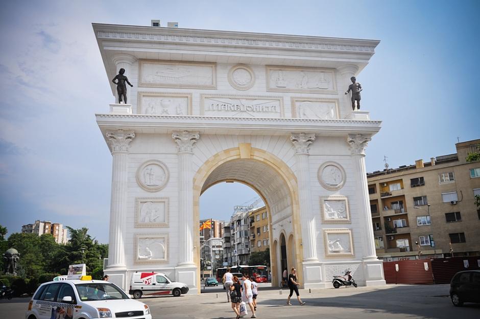 Brama triumfalna w Skopje