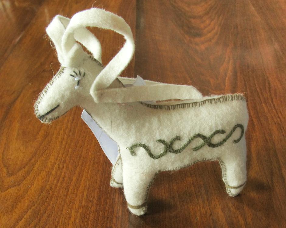 Symbol Pamiru - ręcznie robiona owca Marco Polo