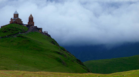 Piękny gruziński krajobraz