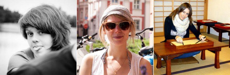 Podrózniczki Anna Rudy, Agata Roszczka i Małgosia Duszyńska.