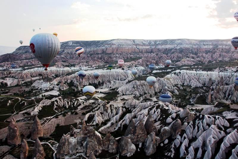 Loty balonem w Kapadocji w Turcji