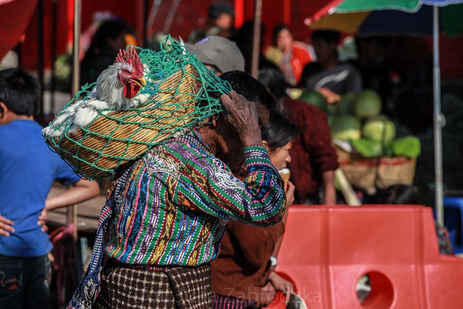Gwatemalczyk w tradycyjnym stroju