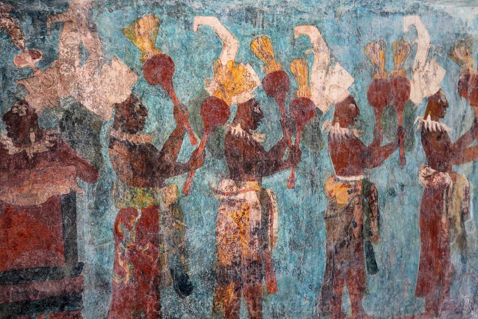 Malowidła Majów - podróż, foto