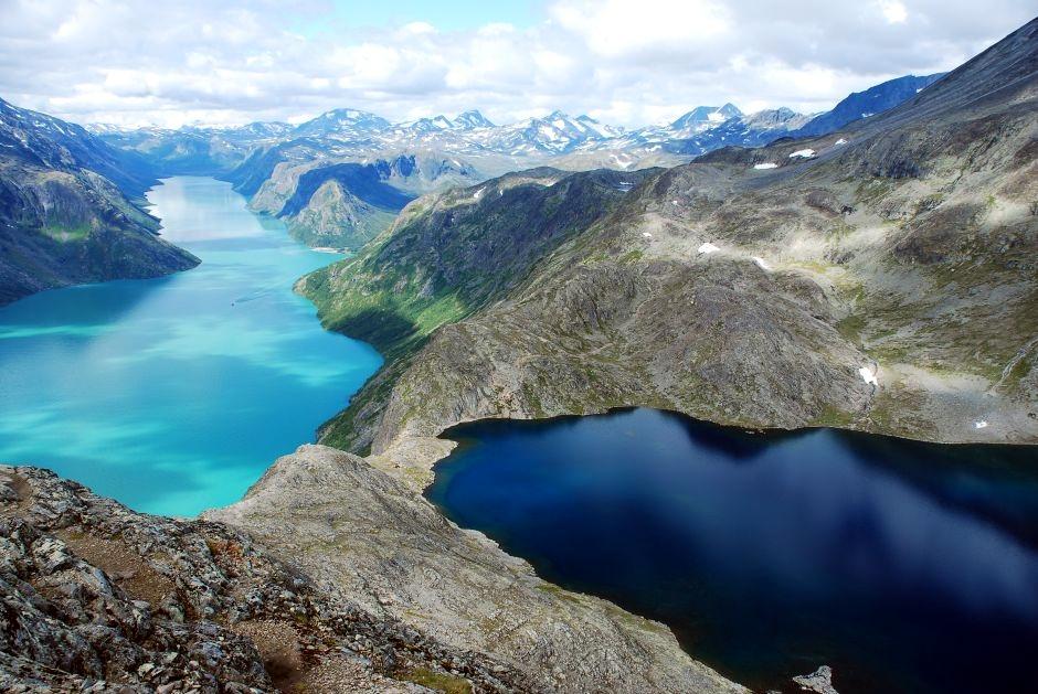 Malownicze widoki podczas trekkingu w Norwegii - zdjęcia