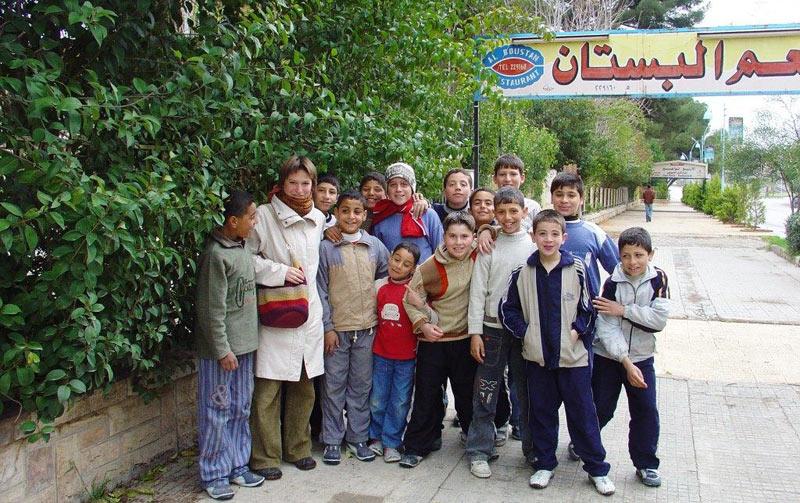 Dzieciaki z syryjskiej Hamy