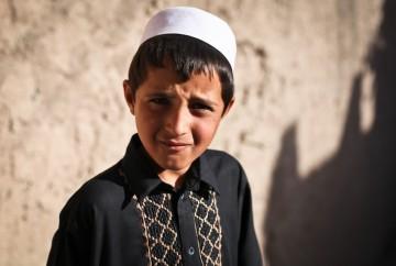 Portret afgańskiego dziecka - zdjęcia z podrózy