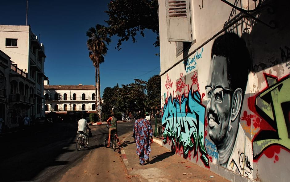 Graffiti w Afryce - Senegal - zdjęcia