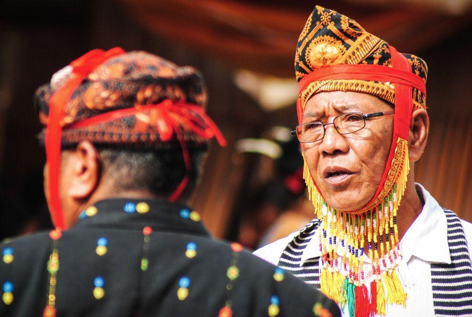 Mężczyzna z ludu Manggarai. Zdjęcia z Indonezji