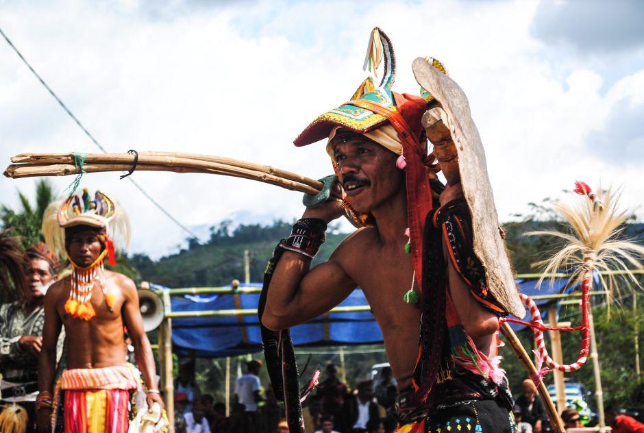 Indonezyjski wojownik - zdjęcia z podróży