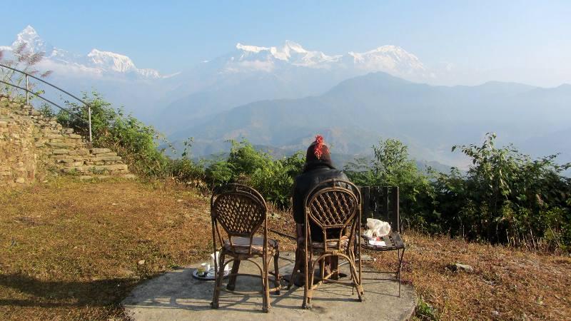 Sarangot w Nepalu - panorama Himalajów