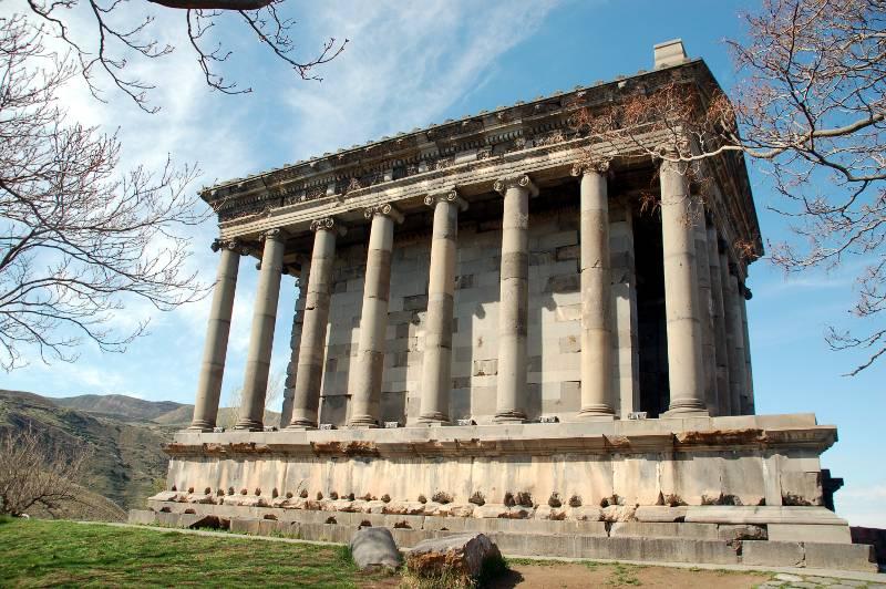 Ruiny świątyni w Garni - zdjęcia z Gruzji