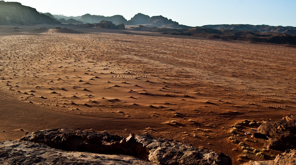 Krajobraz na Wadi Rum