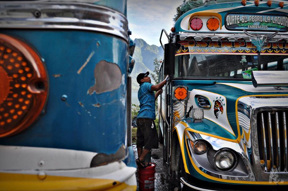 Transport autobusowy w Gwatemali - relacja z podróży