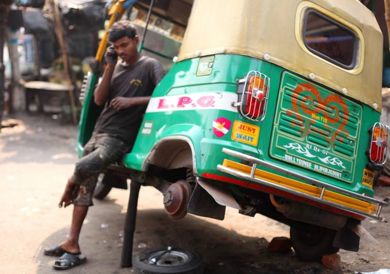 Tuk tuk taxi w Indiach