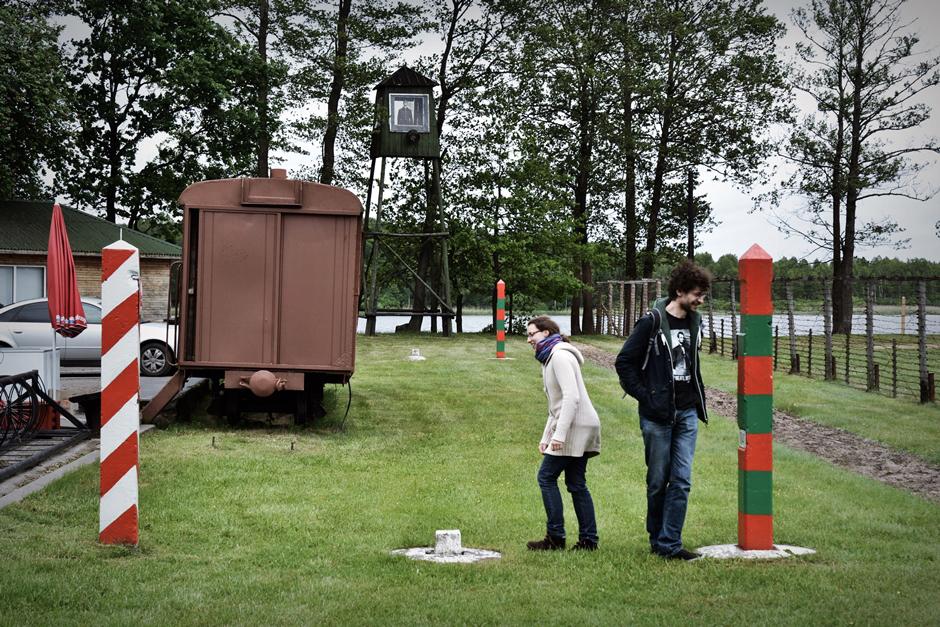 Granica polsko-litewska w parku komunizmu na Litwie