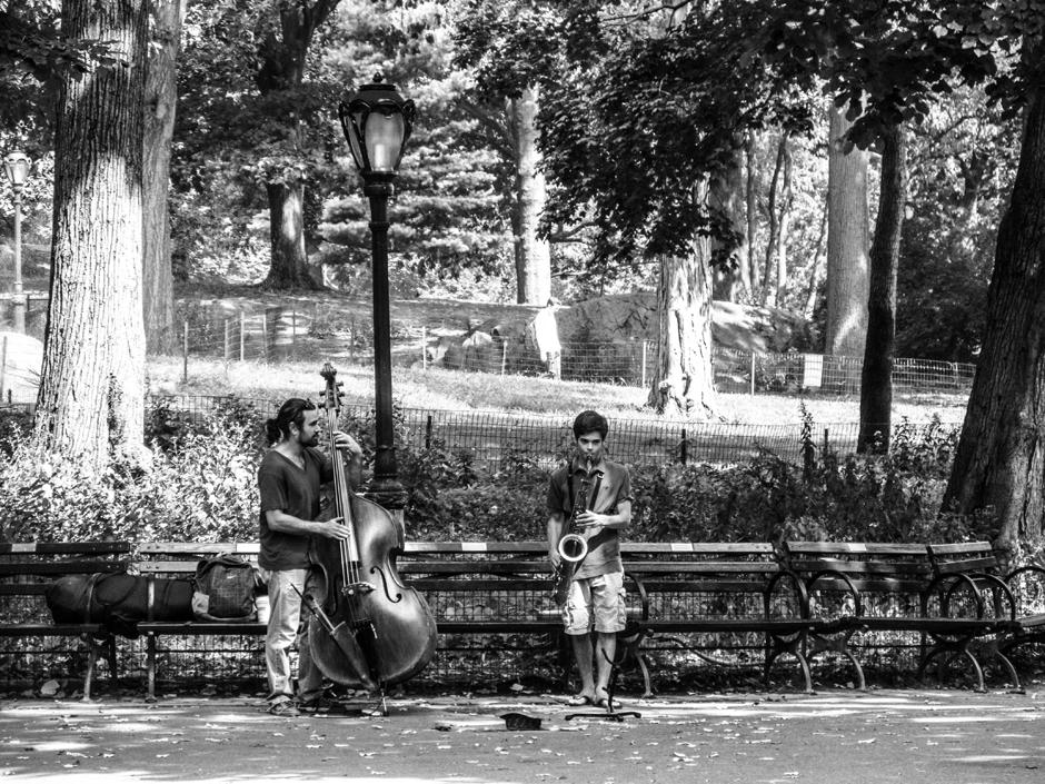 Muzycy w Central Parku