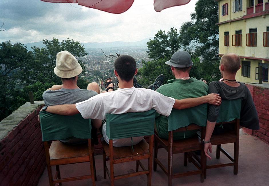 Polscy podróżnicy w Kathamdu.