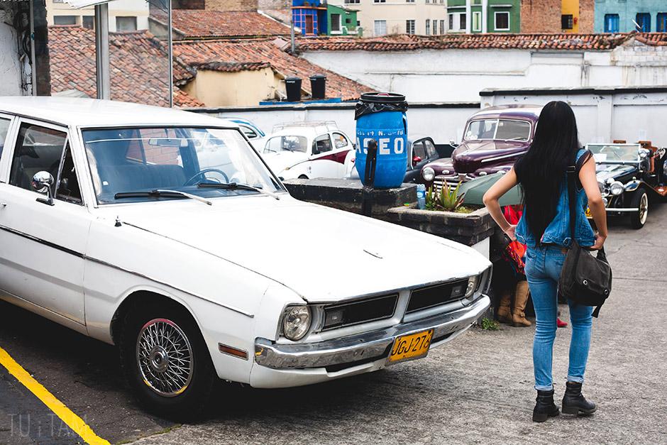 Stare auta na ulicach Bogoty