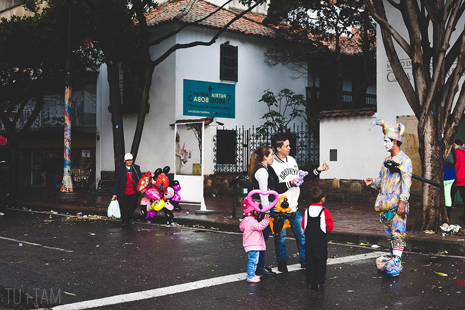 Uliczny klaun, Bogota