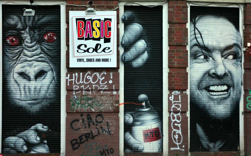 Berlin. Graffiti w Kreuzebrg