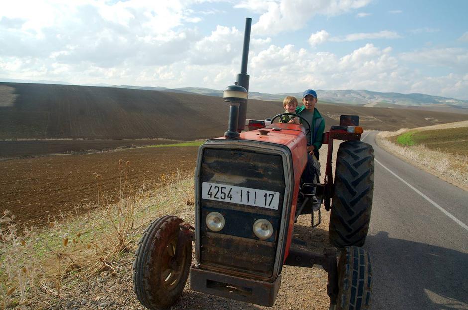 W Maroku na traktorze