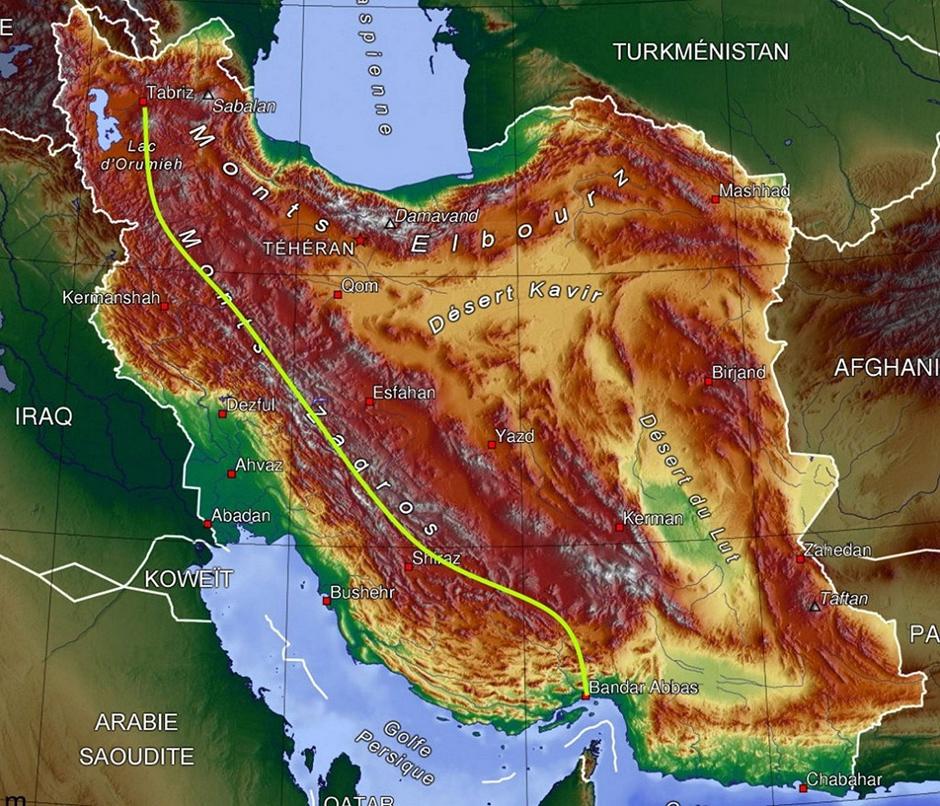 Trasa wyprawy Łukasza Supergana przez góry Zagros w Iranie