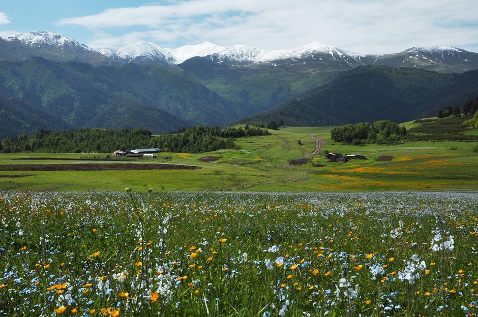 Krajobraz gruzińskiej Tuszetii