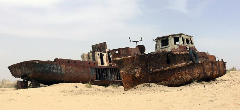 Wraki statków w Mujnaku - zdjęcie z podróży do Uzbekistanu