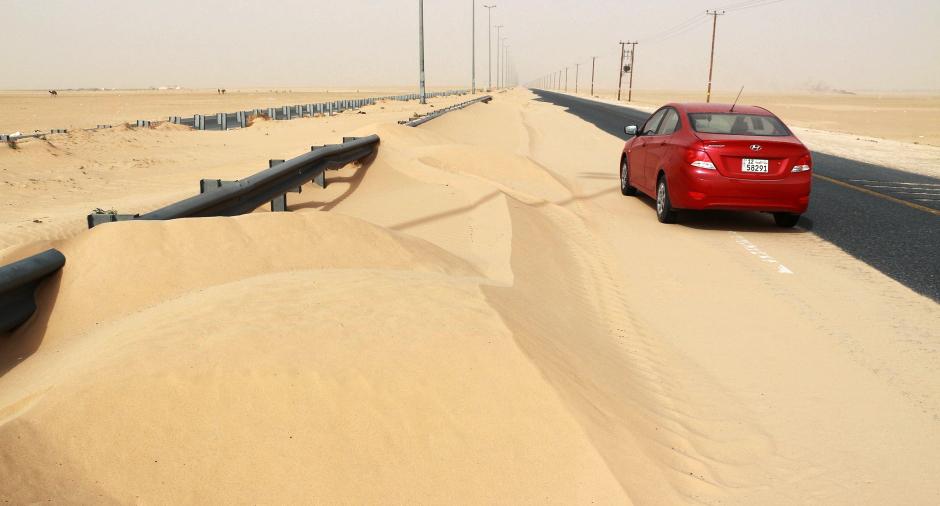 Burza piaskowa w Kuwejcie