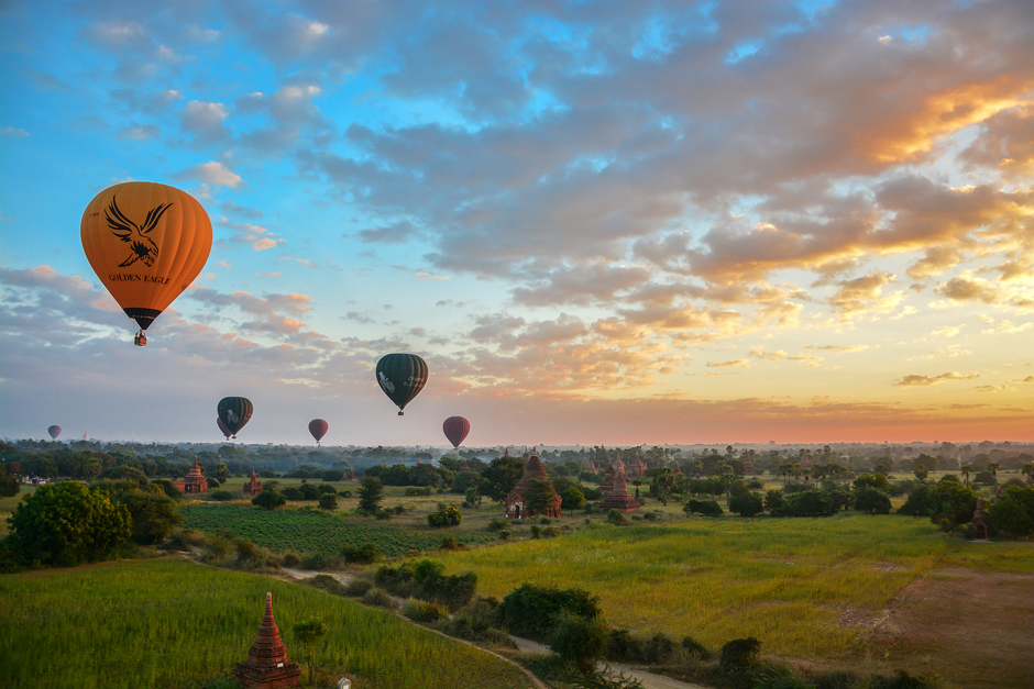 Bagan - loty balonem to koszt 350 dolarów