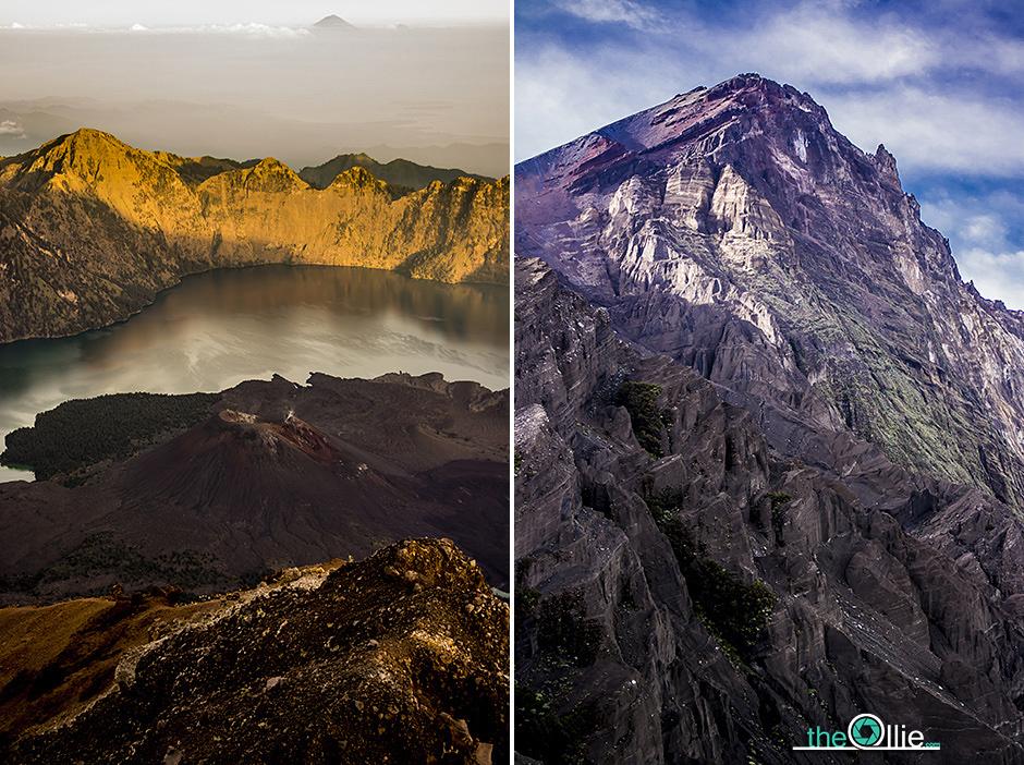 Wulkan Gunung Rinjani w Indonezji - foto
