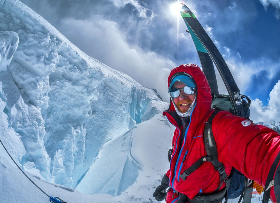 Selfie w Himalajach - narciarz z Wetliny Olek Ostrowski