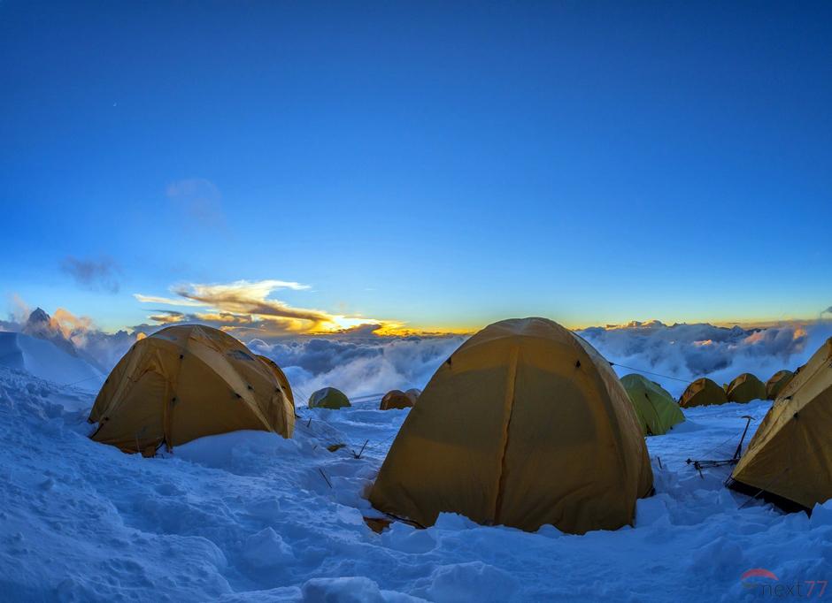 Namioty w Himalajach