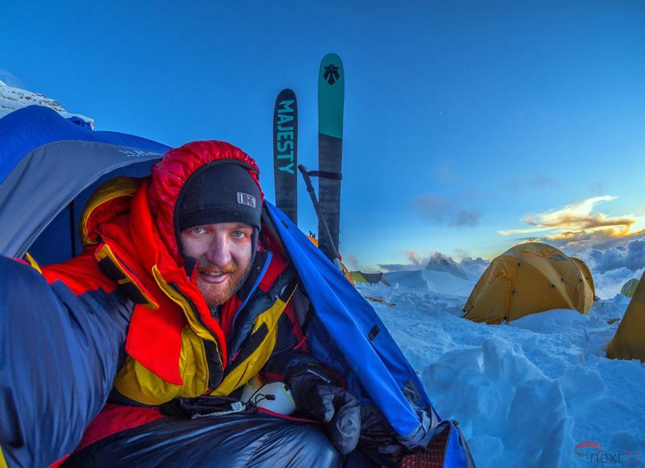 Olek Ostrowski zdobywa Cho Oyu w Himalajach
